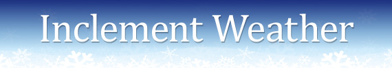 Inclement Weather Header Graphic
