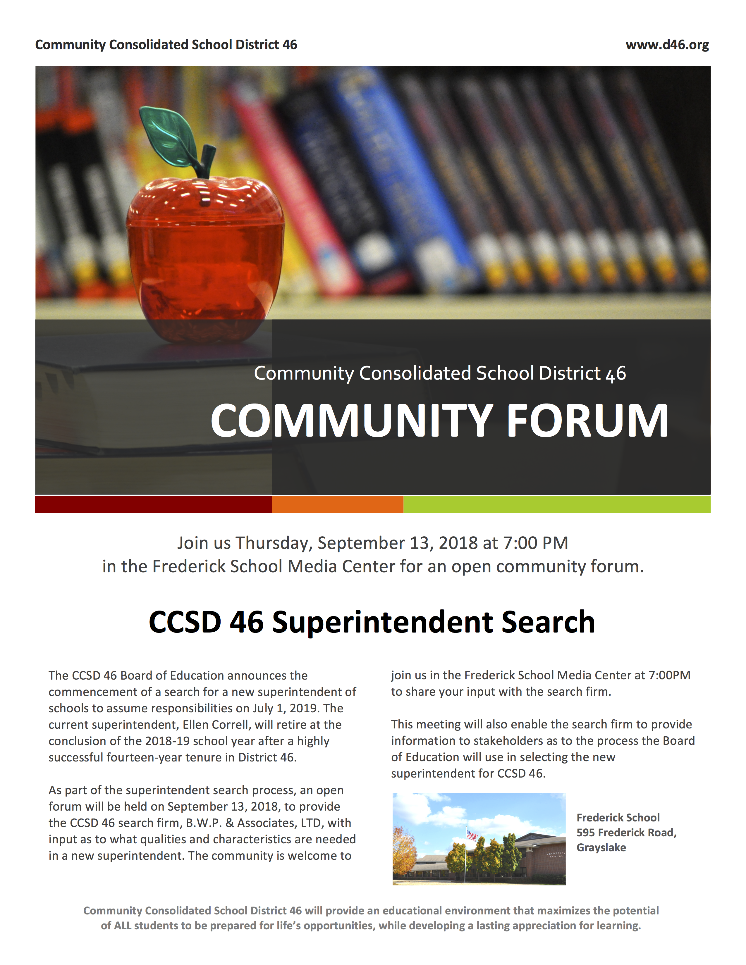 Superintendent Forum Flyer
